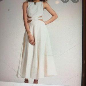 Mara Hoffman White linen long dress